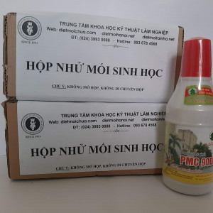 02 hộp nhử mối dùng kết hợp với 01 lọ thuốc diệt mối tận gốc PMC 90DP chính hãng